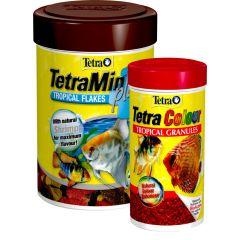 TetraMin Plus 62g Tropical Flake with Free 30g Colour Granules