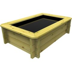 square wooden fish pond-garden timber company