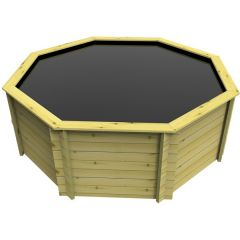 Large octagonal wooden pond