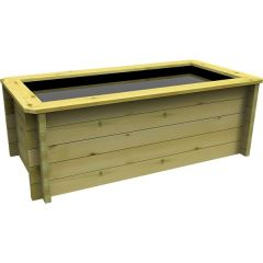 preformed wooden fish pond