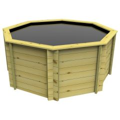 wooden octagon fish pond