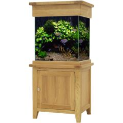 Oak cabinet with a glass tank. Maidenhead Aquatics Exclusive
