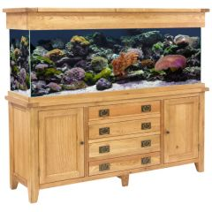 Aqua Oak 180cm Doors and Drawers Aquarium and Cabinet with fish and aquascaping