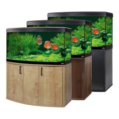 fluval vicenza 260 aquarium with discus fish in 3 colours fish tank