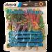 6 piece medium plastic plants