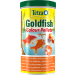 tub of tetra pond goldfish colour pellets.
