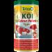 tub of Tetra pond koi colour food pellets.